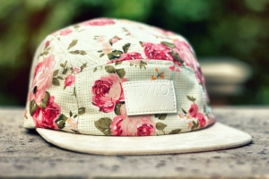 two face london - world's original face floral cap