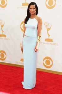 Stylitz - Padma Lakshmi in Kaufmanfranco with Robert Lee Morris jewels - Getty Images