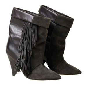Isabel Marant for H&M 4 - fringed boots £149.99