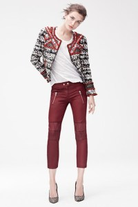Isabel Marant for H&M - jacket £199.99, trousers, £69.99, t-shirt £24.99, mid-heel pumps £99.99