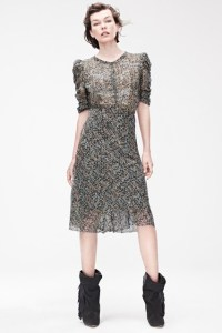 Isabel Marant for H&M - Milla Jovovich Dress £69.99, boots £149.99