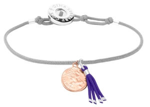 Stylitz - GINA ROSE LGREY PURPLE COIN TOGGLE BRACELET