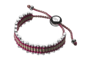 Stylitz - Links of London friendship bracelet red and gold glitter panel £150