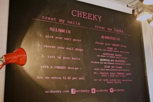 Cheeky Menu-cheriecity.co.uk
