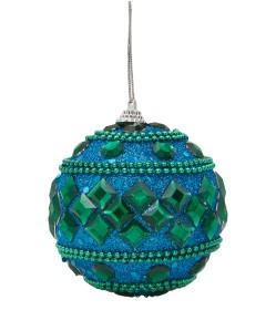 Liberty Beaded Jewel Peacock Bauble £4.95