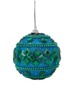 Liberty Beaded Jewel Peacock Bauble £4.95