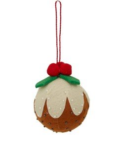 Liberty Christmas Pudding Felt Bauble £6.95