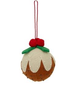 Liberty Christmas Pudding Felt Bauble £6.95