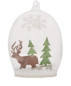 Liberty Glitter Cut-Out Deer Glass Bauble £3.95