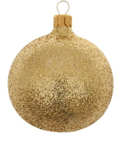 Liberty Gold Glitter Bauble £2.95
