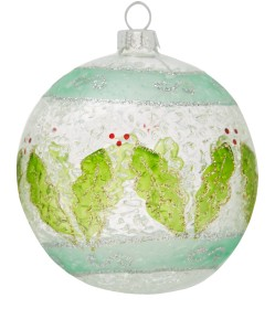 Liberty Mint Green Holly Bauble £3.95