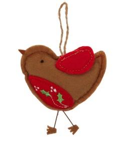 Liberty Red Robin Felt Decoration £3.95
