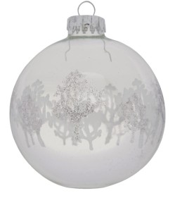 Liberty Silver Glitter Tree Bauble £3.95