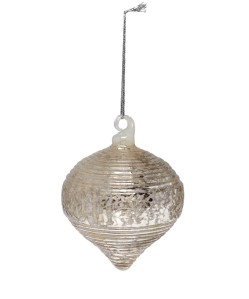 Liberty Silver grooved onion bauble £6.95