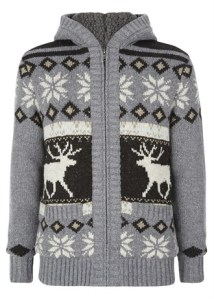 Xmas jumper Matalan easy--fairisle-mens cardigan £29.99
