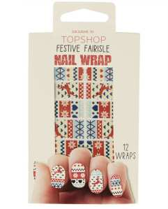 Xmas Topshop Fair isle nail wraps £6