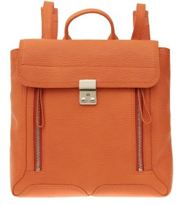 3.1 Phillip Lim Orange Pashli Leather Backpack £745 www.liberty.co.uk