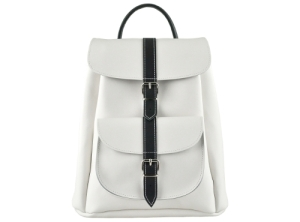 Grafea 'Piano' White and black backpack, £165, grafea.co.uk