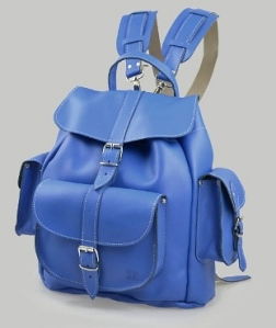 Grafea 'Smurf' blue leather backpack £180 grafea.co.uk