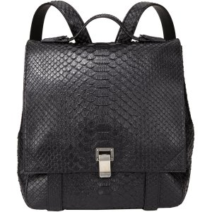 Proenza Schouler black python PS large backpack $3,050 barneys.com