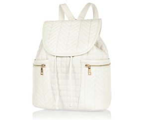 River Island White Quilted rucksack £30