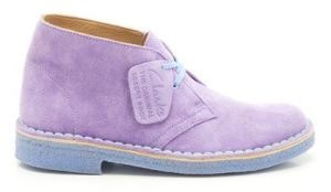 2-Clarks Desert Boot Lilac suede £85