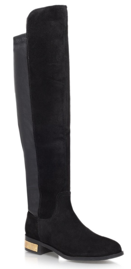 d4043d094694 Over-the-knee boots are so on-trend. Wear with skinny jeans or a 70s  printed dress.
