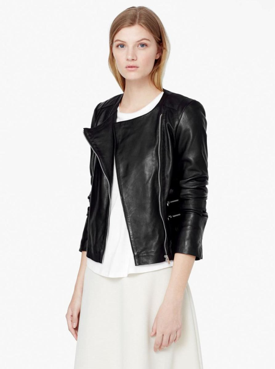 The ultimate black leather biker jacket